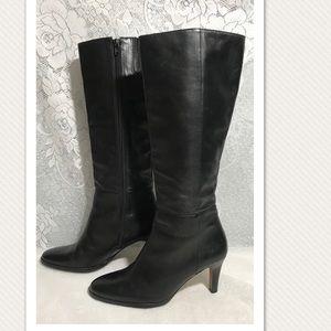 Classic Tall Black Leather Boots Banana Republic